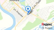 Анивский пожарный отряд на карте