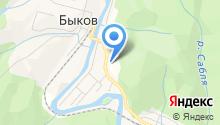 Быков тепло на карте