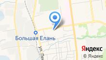Автостоянка на Больничной на карте