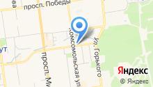 Автостоянка на ул. Емельянова на карте