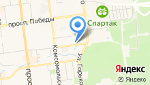 Автостоянка на ул. Максима Горького на карте