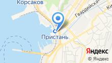 Корсаковский РОСТО ДОСААФ на карте
