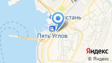 Корсаковский таможенный пост на карте