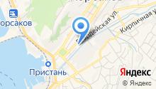 Автостоянка на Речной на карте
