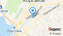 Продовольственный магазин на Крутой на карте