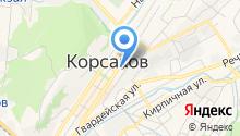 Отделение пенсионного фонда РФ в г. Корсакове на карте