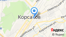 Управление Пенсионного фонда РФ в г. Корсакове на карте