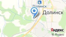 Метеостанция г. Долинска на карте