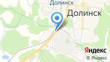 Городок на карте