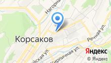 Корсаковская центральная районная больница на карте