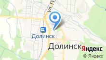 Отделение Пенсионного фонда РФ в г. Долинске на карте