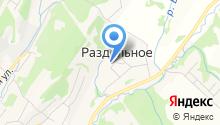 Средняя общеобразовательная школа с. Раздольное на карте