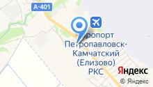 Камчатка на карте