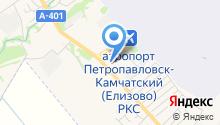 Камчатское агентство воздушных и железнодорожных сообщений на карте