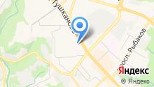 Аптека на ул. Тушканова на карте