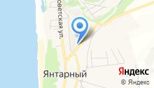 Калининградский янтарный комбинат, ГУП на карте