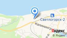 Янтарный берег на карте