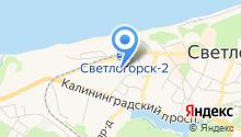 Золотая бухта на карте