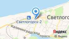 Светлогорский военный санаторий на карте
