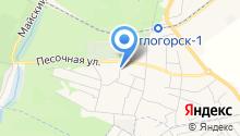 Продуктовый магазин на Пригородной на карте