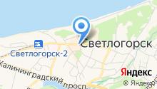 Янтарный ювелирпром на карте