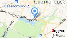 Федеральная кадастровая палата Росреестра по Калининградской области на карте