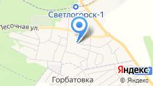 Светлогорская централизованная библиотечная система, МБУК на карте