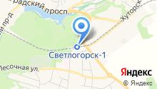 Светлогорск-1 на карте