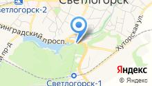 Отдел №7 Управления Федерального Казначейства по Калининградской области на карте