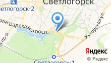 Межмуниципальный отдел вневедомственной охраны по Светлогорскому району на карте