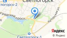 Светлогорский межрайонный следственный отдел на карте