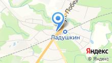 Ладушкинский на карте