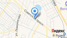 Автомойка на Советском проспекте на карте