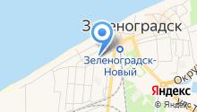 Зеленоградский городской округ на карте