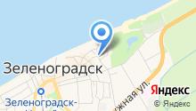 Отдел военного комиссариата Калининградской области по Зеленоградскому району на карте