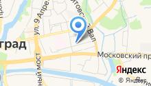 Пожарная часть №1 Ленинградского района на карте