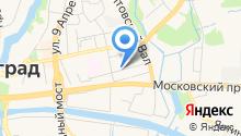 Пожарно-спасательная часть №1 Ленинградского района на карте