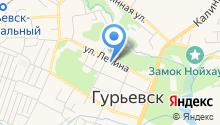 Управление Пенсионного фонда РФ в Гурьевском районе на карте