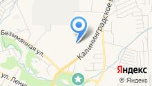 Гурьевский РЭС Западных электрических сетей на карте