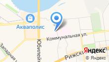 Банно-прачечный комбинат г. Пскова на карте