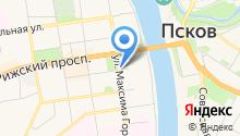 Бистро на ул. Максима Горького на карте