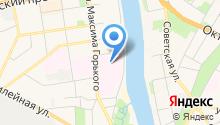 Псковская областная больница на карте