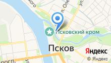 Главное бюро медико-социальной экспертизы Псковской области на карте