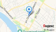 Авто Псков на карте