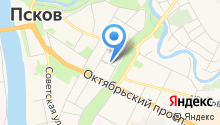 Адвокатская палата Псковской области на карте