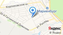 Магазин хлеба на карте
