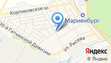 Магазин овощей и фруктов на Заводской (Гатчинский район) на карте