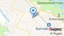 Магазин мясной продукции на ул. Генерала Кныша на карте