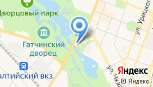 Автостоянка на ул. Чкалова (Гатчинский район) на карте