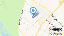 Автостоянка на ул. Академика Константинова на карте